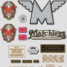 1945-49: Matchless Decals - RESTORERS DECAL SET - G3L,G3LC,G80,G80C Stickers (Adhesive transfers)