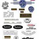 1963-66: Model 14CSR,16,16C,18S,18CS - AJS DECAL SET