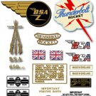 1965: A65T/R Thunderbolt Rocket - RESTORERS DECAL SET -