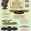1953 - 71: Velocette - FULL DECAL SET- Rare to see