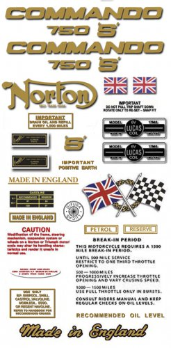 1969-70: 750S - RESTORERS DECAL SET - Norton Commando S