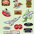 Motorcycle Dealer Decals -RESTORERS DECALS- Historic Motorcycle Suppliers Decals