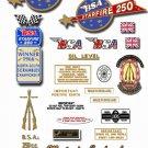 1967: B25 - BSA Starfire Decals - BSA B25 decals