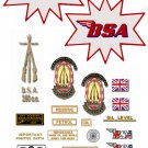 1965-68: BSA C15 Competition - RESTORERS DECAL SET -  BSA C15