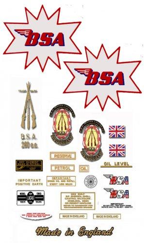 1965-68: BSA C15 Competition - RESTORERS DECAL SET -  BSA C15