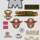 1961-63: Matchless Singles -RESTORERS DECALSET- G2 G3 G5 G80 Stickers (Adhesive transfers)