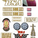 1972-73: BSA B50MX Decals - RESTORERS DECALSET - BSA Victor Moto Cross Stickers (Adhesive transfers)