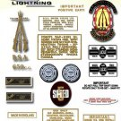 1971-72: BSA LIGHTNING - RESTORERS 5 SPEED DECALSET - BSA A65L Stickers (Adhesive Transfers)