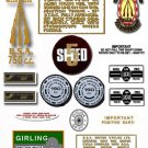 1972: BSA 750cc LIGHTNING - RESTORERS DECALS - BSA A70L Stickers (Adhesive Transfers)