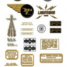 1964-65: BSA Lightning Rocket Decals - BSA A65D Stickers (Adhesive Transfers)