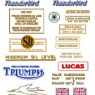 1949-53: Thunderbird - RESTORERS DECALS - Triumph 6T Stickers (Adhesive Transfers)