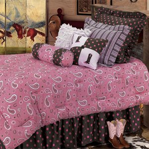 Pink Paisley Bedding