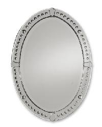 Silver Coated Oval Mirror