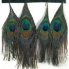 Peacock Coloured Tassels