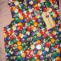 Large pet shirt / vest in multi-colored pool ball print - dd11