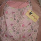 Large REVERSABLE Pet dress in pink purse print with lace trim - dd05