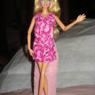 Short hot pink and white swirl print dress for Barbie Dolls - ed93