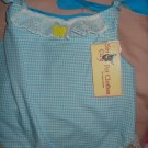 Large REVERSABLE Pet dress in blue & white Oz checked - dd05