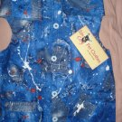Medium size pet shirt / vest in blue jean print - dd10