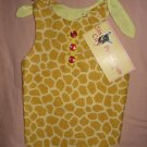 Medium REVERSABLE pet dress in yellow & brown Giraffe print - dd04