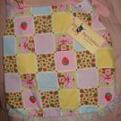 Large REVERSABLE Pet dress in red, yellow, pink, blue Strawberry Shortcake patchwork print - dd05