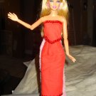 Sequined red long skirt and top set for Barbie Doll - ed71