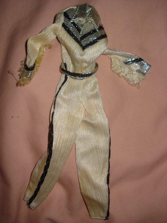 Vintage Barbie Doll western jumpsuit - ev02