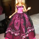 Silkstone Barbie black and hot pink formal dress - ef02