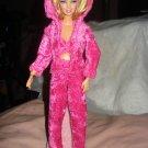 Hot pink velour 3-piece jogging suit set for Barbie Dolls - ed110