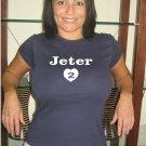 """Womens """"Derek Jeter"""" Yankees T Shirt Jersey S-XXL"""