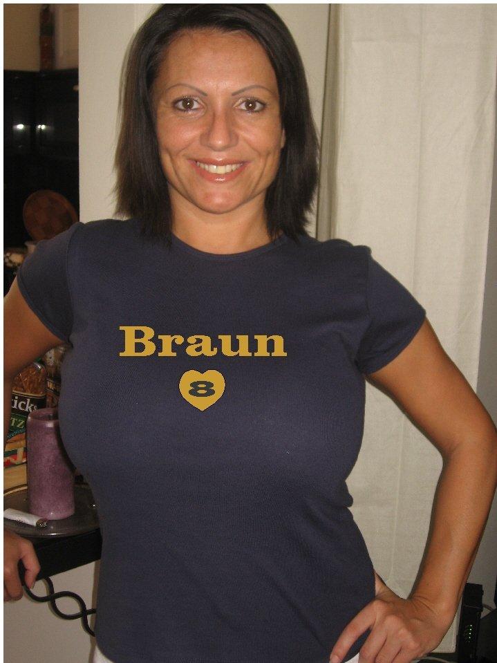 """Womens """"Ryan Braun"""" Brewers T Shirt Jersey S-XXL"""