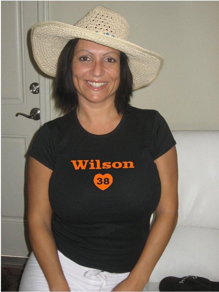 """Womens """"Brian Wilson"""" Giants T Shirt Jersey S-XXL"""