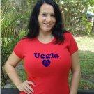 "Womens ""Dan Uggla"" Braves T Shirt Jersey S-XXL"