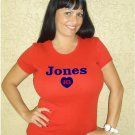 "Womens ""Chipper Jones"" Braves T Shirt Jersey S-XXL"