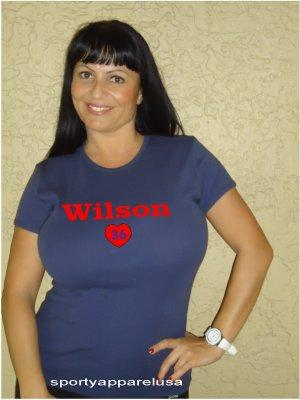 """Womens """"C. J. Wilson"""" Rangers T Shirt Jersey S-XXL"""
