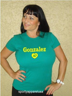 """Womens """"Gio Gonzalez"""" Athletics T Shirt Jersey S-XXL"""