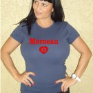"Womens ""Justin Morneau"" Twins T Shirt Jersey S-XXL"