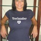 "Womens ""Justin Verlander"" Tigers T Shirt Jersey S-XXL"