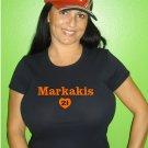 "Womens ""Nick Markakis"" Orioles T Shirt Jersey S-XXL"