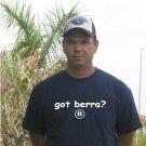 """Got Berra ?"" Yankees Throwback T Shirt Jersey Yogi"