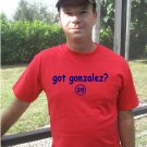 "Mens ""Got Gonzalez ?"" Red Sox T Shirt Jersey Adrian  S-XXL"