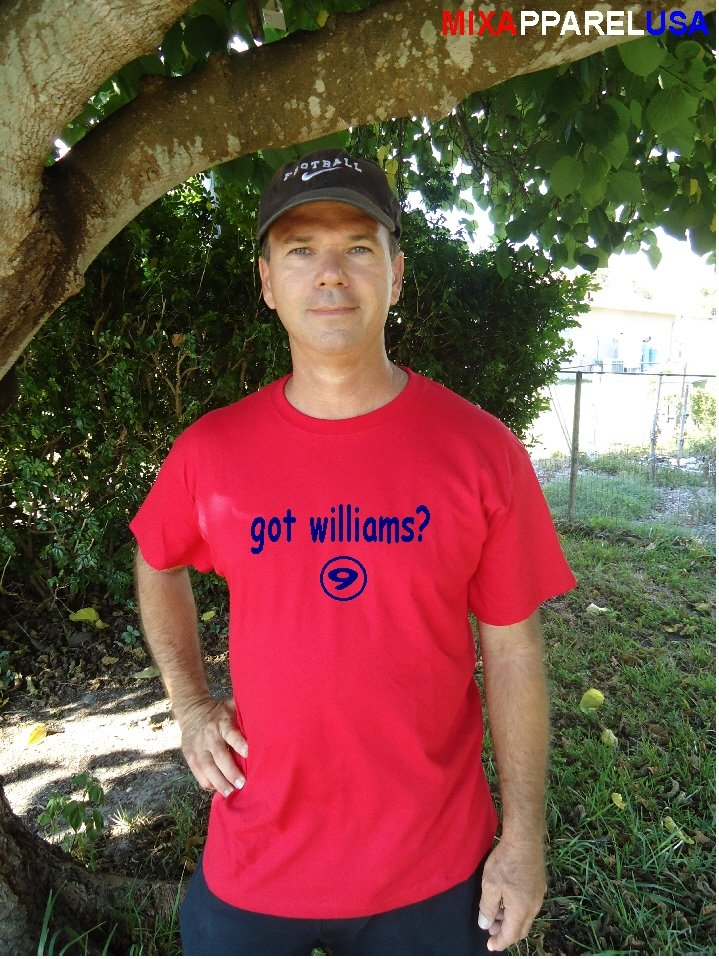 """Mens """"Got Williams ?"""" Red Sox Throwback T Shirt Jersey Ted"""