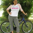 """Womens """"Spinning Queen"""" Exercise Workout Fitness T Shirt"""