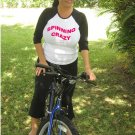 """Womens """"Spinning Crazy"""" Exercise Workout Fitness T Shirt"""