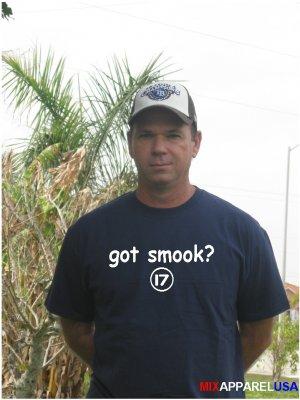 "Mens ""Got Smook ?"" Mariners T Shirt Jersey Justin S-XXL"
