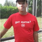"Mens ""Got Morse ?"" Nationals T Shirt Jersey Michael S-XXL"
