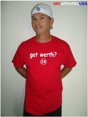 """Mens """"Got Werth ?"""" Nationals T Shirt Jersey Jayson S-XXL"""