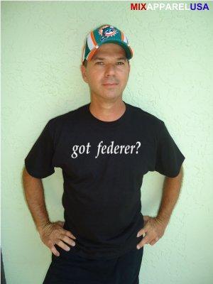 """Mens """"Got Federer ?"""" Tennis T Shirt Roger S-XXL"""