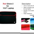 "RED Kroo GLOVE 2 W/POCKET for 15.6"" Notebook"