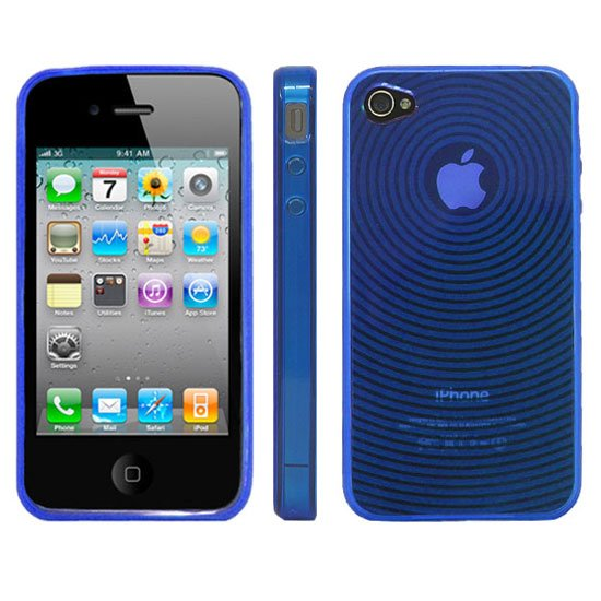 Kroo BLUE Target Flex Series for iPhone 4